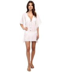 Seafolly Crochet Trim Kaftan Cover Up White Women's Swimwear