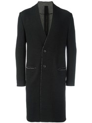 Forme D'expression Collarless Duster Coat Black