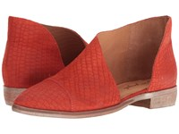 Free People Royale Flat Bright Red Women's Flat Shoes