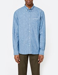 Officine Generale Japanese Chambray Button Down Blue