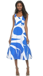 Alice Olivia Leila Scoop Neck Ball Dress Abstract Geo
