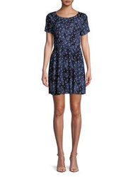 Molly Bracken Anchor Print Short Sleeve Mini Dress Black