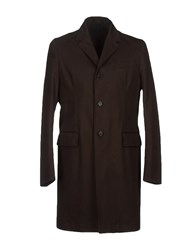Mario Matteo Mm By Mariomatteo Coats And Jackets Full Length Jackets Men Dark Brown