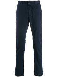 Closed Straight Leg Trousers Blue
