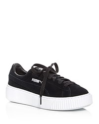 Puma Lace Up Platform Creeper Sneakers Black