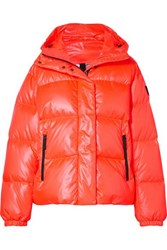 Bogner Fire And Ice Ranja Oversized Cropped Hooded Quilted Down Ski Jacket Orange