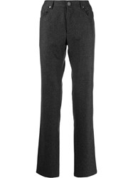 Corneliani Plain Straight Trousers Grey