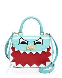 Moschino Cheap And Chic Moschino Cheap And Chic Patent Dino Face Satchel