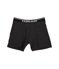 Icebreaker Anatomica Boxers W Fly Jet Heather Black Men's Underwear