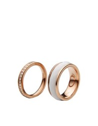 Fossil Rings White