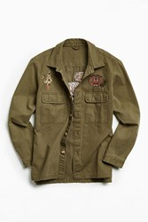 Urban Outfitters Uo Souvenir Military Work Shirt Olive