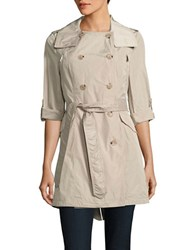 French Connection Double Breasted Trench Coat Beige