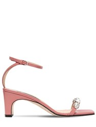 Sergio Rossi 60Mm Embellished Patent Leather Sandals Blush