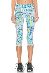 Trina Turk Scallop Shell Mid Length Legging Turquoise