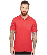 Hurley Dri Fit Lagos Polo Gym Red Men's Clothing