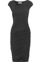 Bailey 44 Primrose Ruched Stretch Jersey Dress Dark Gray