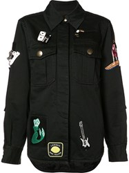 Marc Jacobs Multi Patched Jacket Black