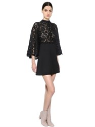 Valentino Floral Lace And Crepe Couture Dress