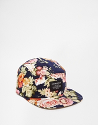 Icon Brand Floral 5 Panel Cap Blue