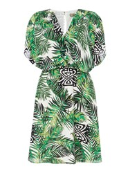 Biba Palm Print Kimono Dress Multi Coloured Multi Coloured