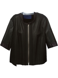 Sharon Wauchob Panelled Leather Jacket Black