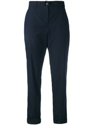 Akris Punto Ankle Length Trousers Blue
