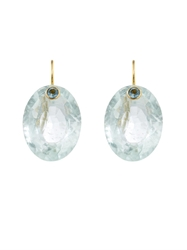 Marie Helene De Taillac Quartz Aquamarine And Yellow Gold Earrings