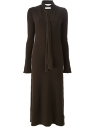 Chloe Chloe Necktie Sweater Dress Brown