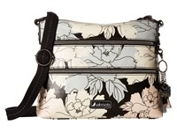 Sakroots Artist Circle Basic Crossbody Black Peony Cross Body Handbags