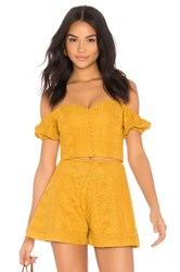 Finders Keepers Maella Top Mustard