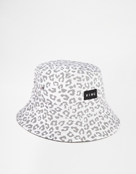 King Apparel Urbane Leopard Reversible Bucket Hat Black