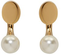 Chloe Gold Darcey Round Earrings