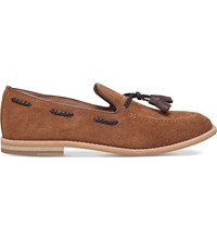 Kg By Kurt Geiger Colibra Suede Loafers Tan