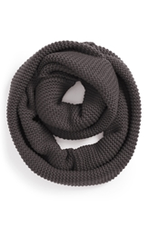 Bp Ribbed Infinity Scarf Juniors Charcoal