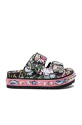 Alexander Mcqueen Leather Sandals In Pink Floral Pink Floral