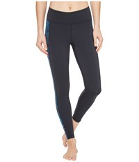 2Xu Active Compression Tights Dark Charcoal Geo Director Blue Women's Workout Black