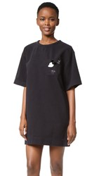 Marc Jacobs T Shirt Dress With Embroidery Black