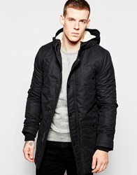 Minimum Hooded Coat With Teddy Black