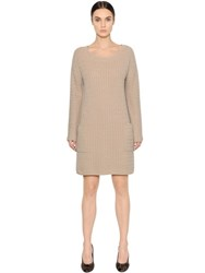 Max Mara Wool And Cashmere Cable Knit Sweater Dress