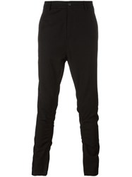 Poeme Bohemien Slim Fit Drop Crotch Trousers Black