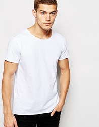 Junk De Luxe Raw Edge Organic T Shirt White