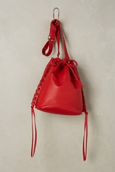 Anthropologie Richards Mini Bucket Bag Red