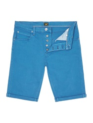 Lee Regular Fit 5 Pocket Denim Shorts Blue