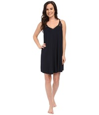 Midnight By Carole Hochman A Touch Of Silver Lace Inset Chemise Midnight Women's Pajama Navy