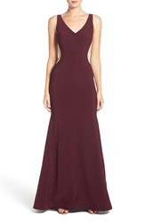 Xscape Evenings Women's Mesh Inset Stretch Gown