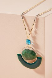 Anthropologie Stormy Seas Pendant Necklace Blue