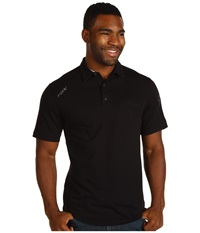 Outfoxed S S Polo Black Men's Short Sleeve Knit
