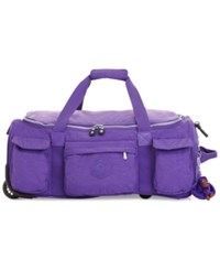 Kipling Closeout 25 Off Discover 22 Rolling Duffel Precisely Purple
