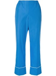 N 21 No21 Cropped Designer Trousers Blue