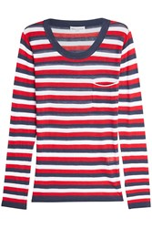 Sonia Rykiel Striped Top With Silk And Cotton